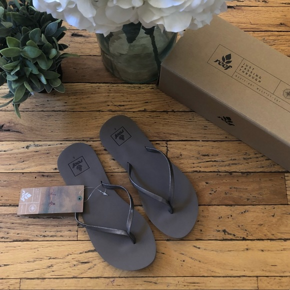 9c997a8ce Reef Shoes | Nwt Bliss Nights Pewter Flip Flop 6 | Poshmark